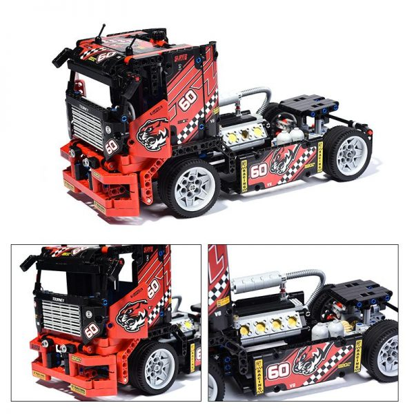 1 2 Decool bricks 3360 608pcs Race Truck Car Transformable Model Building Block Sets FIT for - DECOOL