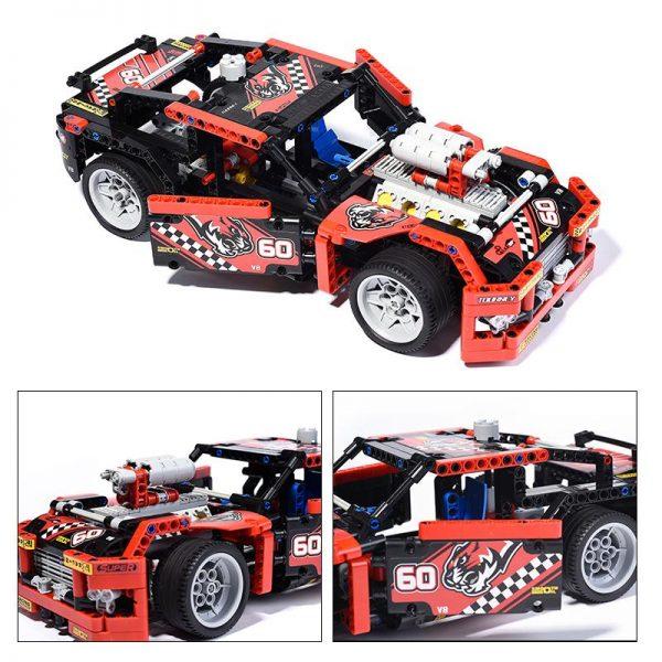 1 2 Decool bricks 3360 608pcs Race Truck Car Transformable Model Building Block Sets FIT for 1 - DECOOL