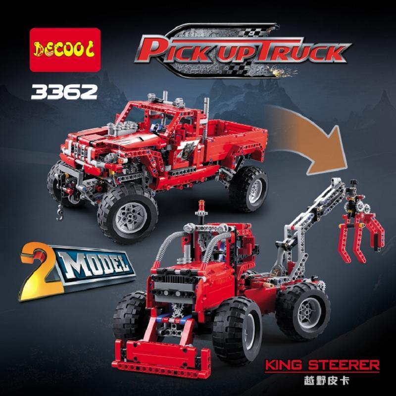 2017 New Decool 3362 TECHNIC 2 in 1 Pickup Truck 1053pcs Toy Building Blocks Bricks Kids - DECOOL