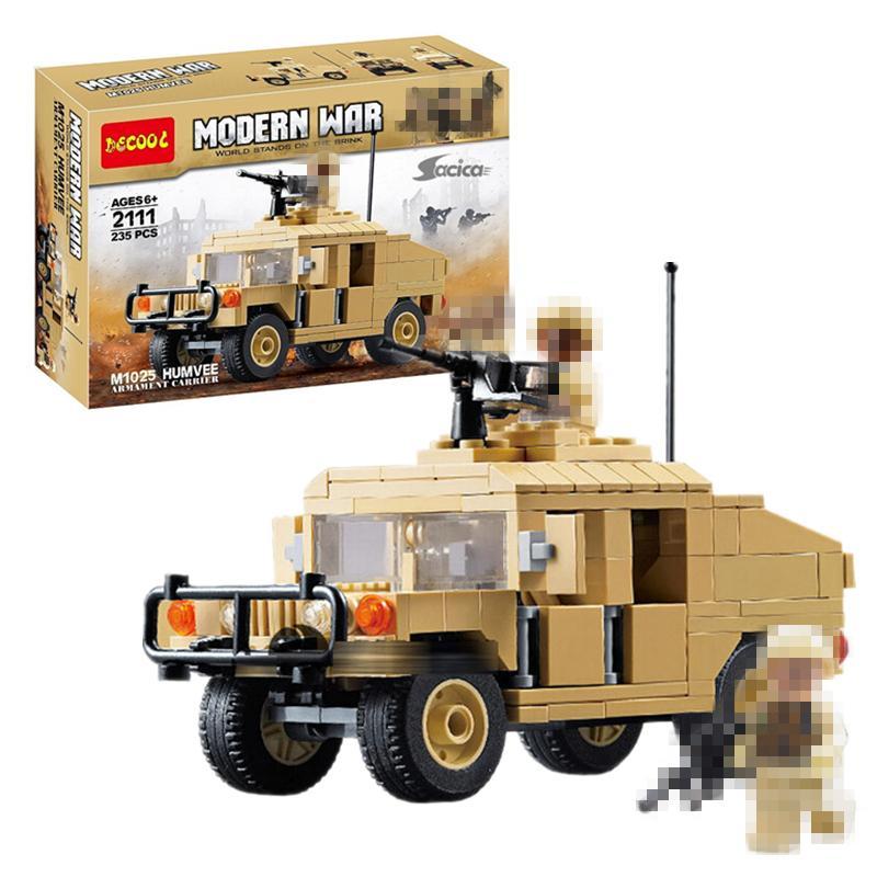 DECOOL 2111 Modern warfare: M1025 Hummer Armed Vehicle
