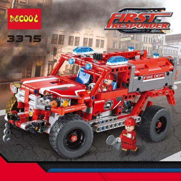 2Model Decool city 3375 523pcs firman rescue vehicle 911 Fire engine car firefighter building blocks bricks 1 - DECOOL