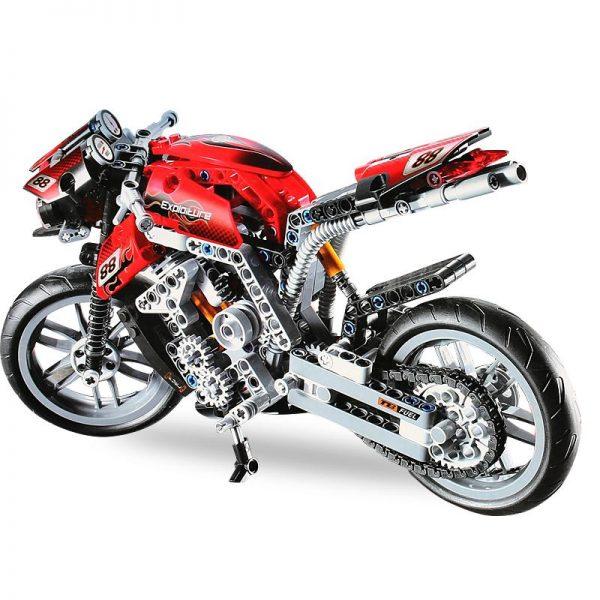 431pcs Decool 3353 Technic Motorbike Motorcycle Building Blocks Kids Toys Model Bricks Compatible With Lego 8051 - DECOOL