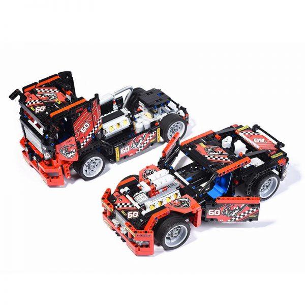 608pcs Race Truck Car 2 In 1 Transformable Model Building Block Sets Decool 3360 DIY Toys 1 - DECOOL