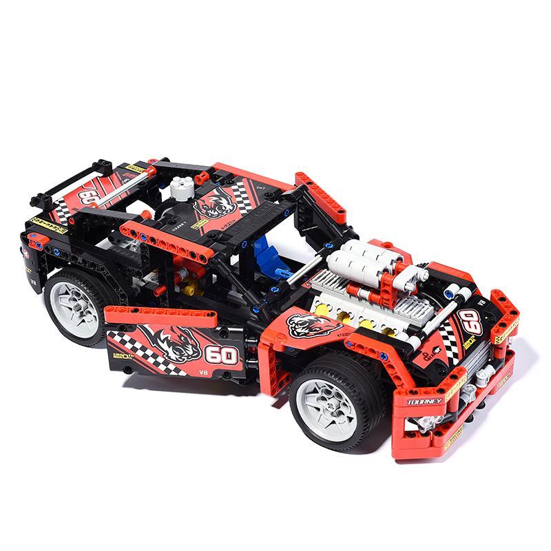 608pcs Race Truck Car 2 In 1 Transformable Model Building Block Sets Decool 3360 DIY Toys 3 - DECOOL