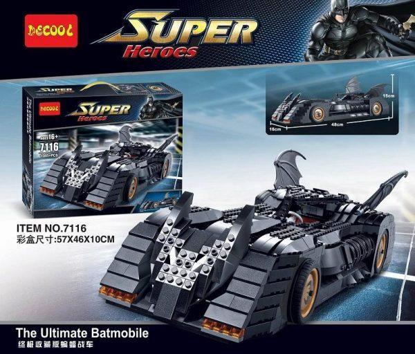 Batman Set 1045pcs Batmobile Tumbler Bat Pod Building Brick Decool Block Figure Toy 7784 Compatible With - DECOOL