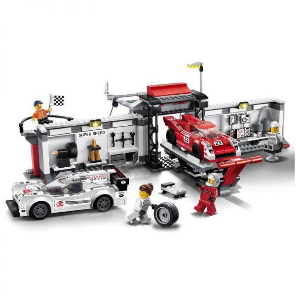 CITY SPEED CHAMPIONS 919 Hybrid and 917K Pit Lane Car Building Blocks Sets Bricks Classic Model - DECOOL