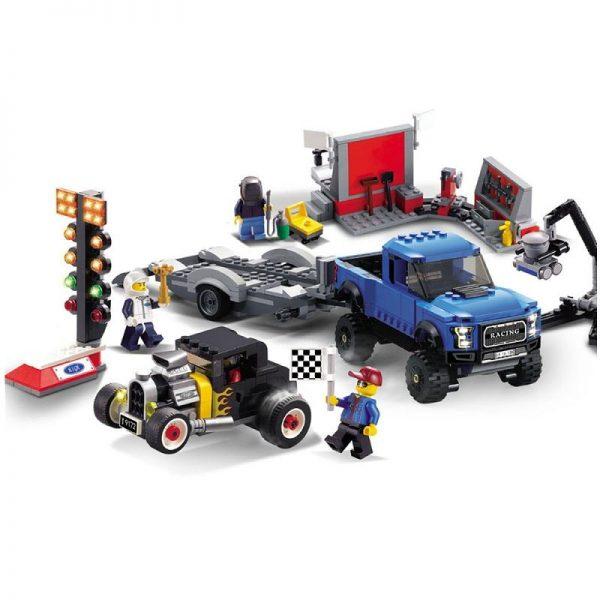 CITY SPEED CHAMPIONS Ford F 150 Raptor Model A Hot Rod Car Building Blocks Sets Bricks - DECOOL