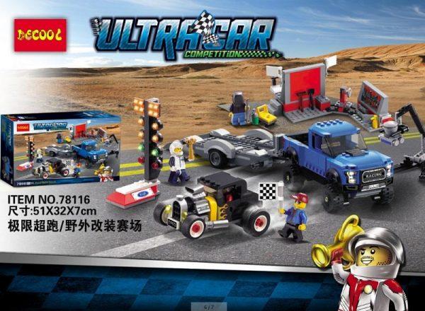 CITY SPEED CHAMPIONS Ford F 150 Raptor Model A Hot Rod Car Building Blocks Sets Bricks 1 - DECOOL