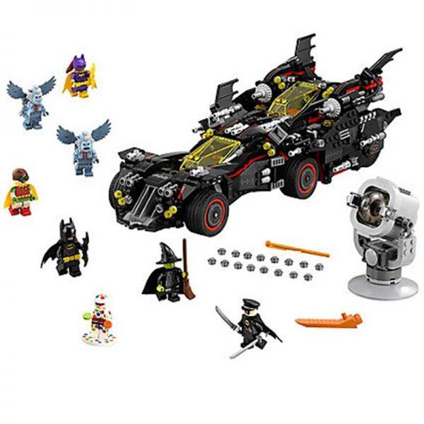DC Super Hero The Ultimate Batmobile with light brick THE BATMAN MOVIE LegoSIM70917 Block set kids - DECOOL