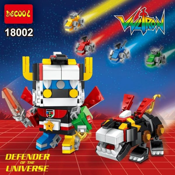 DECOOL 18002 Ideas Series Voltron Superheroes action figures Toys Brickheadz military Building Blocks toys Compatible With - DECOOL
