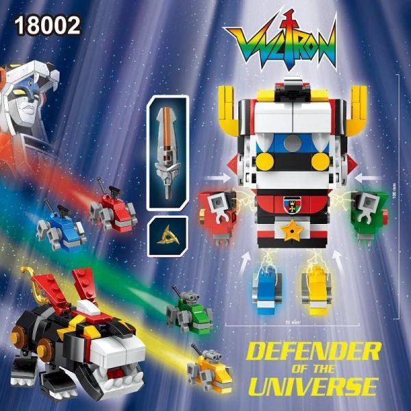 DECOOL 18002 Ideas Series Voltron Superheroes action figures Toys Brickheadz military Building Blocks toys Compatible With 1 - DECOOL