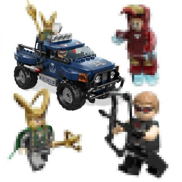 DECOOL 7101 Super Heroes Loki Hawkeye Iron Man Toy Truck Loki s Cosmic Cube Escape Building 1 33e706d6 48be 4094 8b81 51c45a8d8c4f - DECOOL