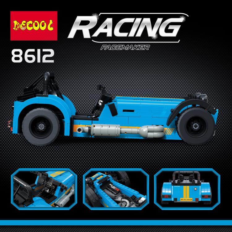 DECOOL 8612 CATERHAM SEVEN 620R Building Blocks model Compatible with legoingly 21307 LEPIN 21008 Racing Car 1 - DECOOL