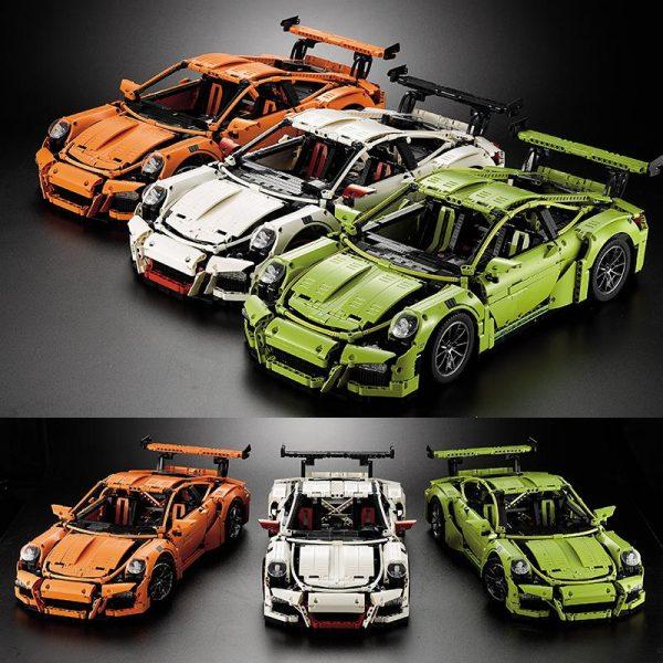 DECOOL Technic 3368 bricks 2726pcs Race Car Chrome type plating hub e manuel toy fit for - DECOOL