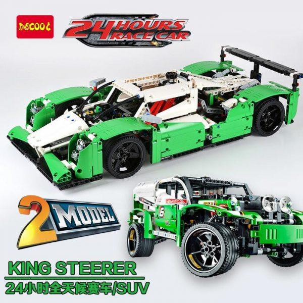 DECOOL Technic City Series 2 in 1 24 Hours Race Car Building Blocks Bricks Model Kids - DECOOL