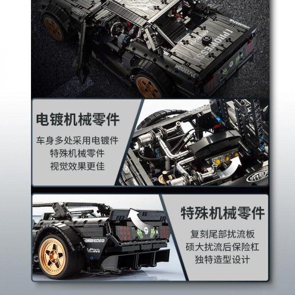 DHL Decool 33003 FORD Mustang Retro wheel mini Gift car Compatible Legoly Technic Building Blocks brick 2 - DECOOL