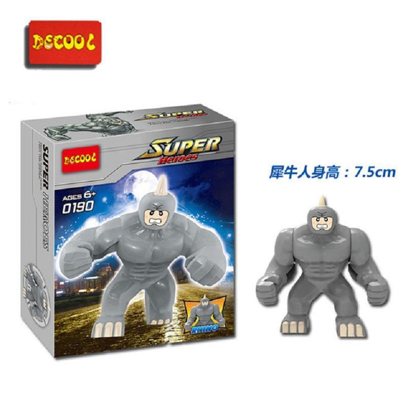 Decool 0190 Building Blocks Super Heroes The Avengers Action Figures diy Toy Big Lazy Rhino Figure.jpg 640x640 12694174 de88 4dee aff9 6cb5918f4250 - DECOOL