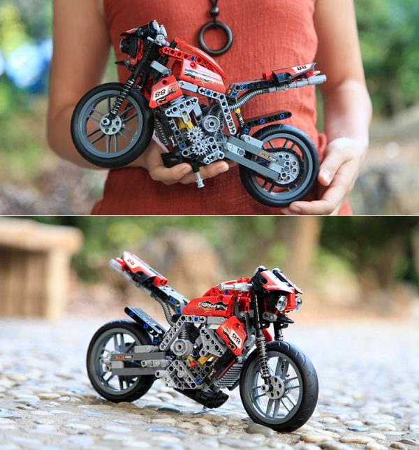 Decool 3353 3354 Technic Motorbike Motorcycle Block Brick Toy Set Boy Game Gift Compatible with Lepin - DECOOL