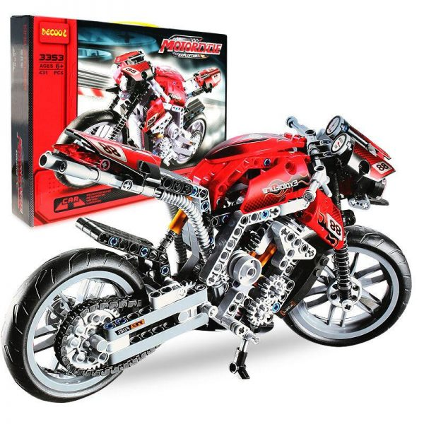 Decool 3353 431pcs Technic Series Athletic motorcycle Model Building Block set Bricks Toys For children Boy - DECOOL