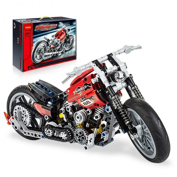 Decool 3354 374pcs Technic Series Simulation motorcycle Model Building Block set Bricks Toys For children Boy - DECOOL