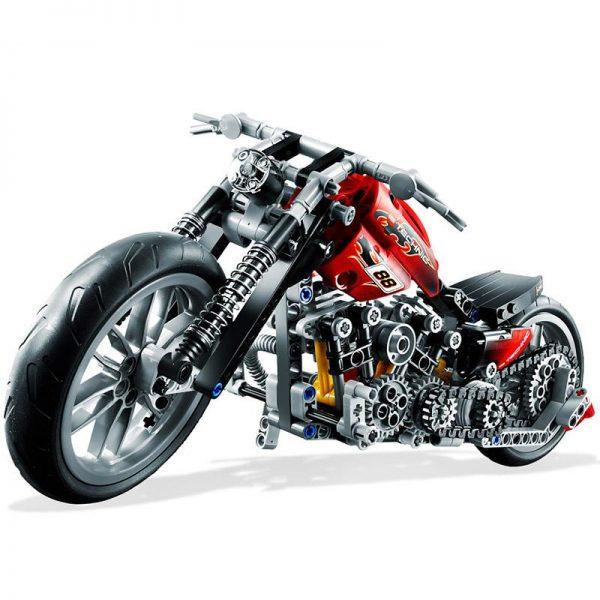 Decool 3354 374pcs Technic Series Simulation motorcycle Model Building Block set Bricks Toys For children Boy 1 - DECOOL