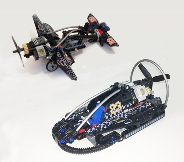 Decool 3361 Technolo City Architect 2 in 1 Hovercraft Model building block toys compatible legaoes 42002 2 - DECOOL