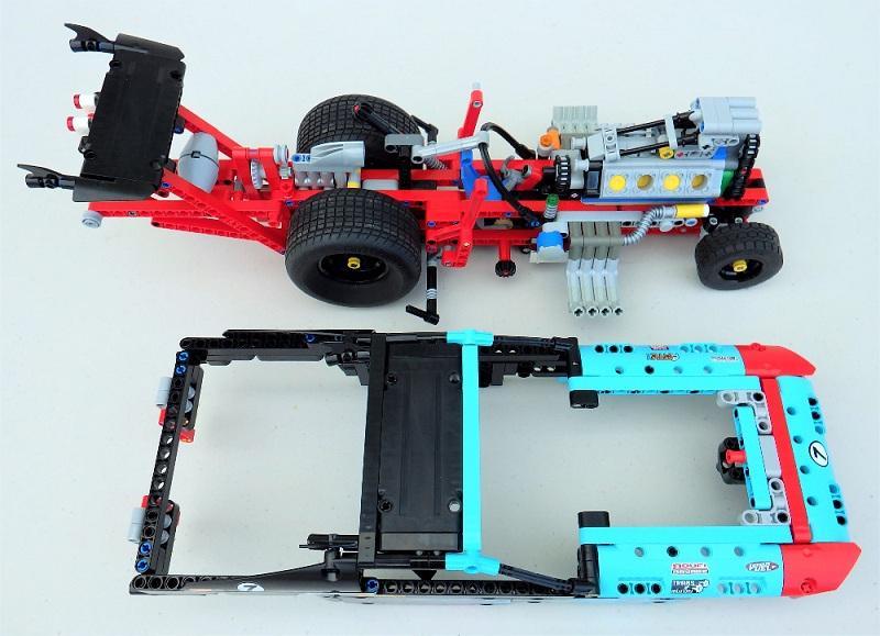 Decool 3367 647pcs Racing Truck Car 2 In 1 Extreme Cruiser Off Roader Building Block Compatible 1 - DECOOL