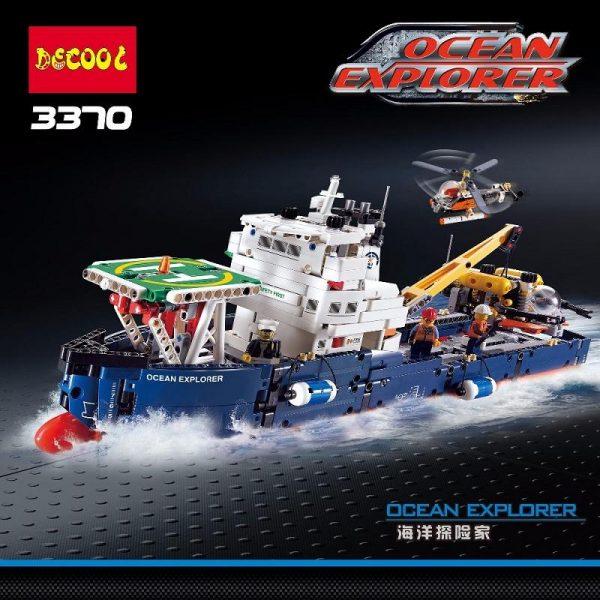 Decool 3370 1342pcs Ocean exploration Legoings 3D DIY Figures toys for children educational building blocks Birthday - DECOOL
