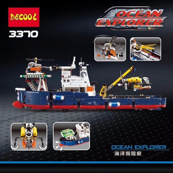 Decool 3370 1342pcs Ocean exploration Legoings 3D DIY Figures toys for children educational building blocks Birthday 1 - DECOOL