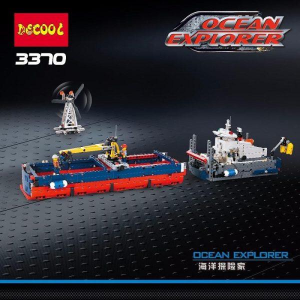 Decool 3370 1342pcs Ocean exploration Legoings 3D DIY Figures toys for children educational building blocks Birthday 2 - DECOOL