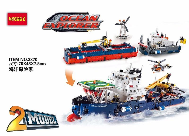Decool 3370 1342pcs Ocean exploration Legoings 3D DIY Figures toys for children educational building blocks Birthday 3 - DECOOL