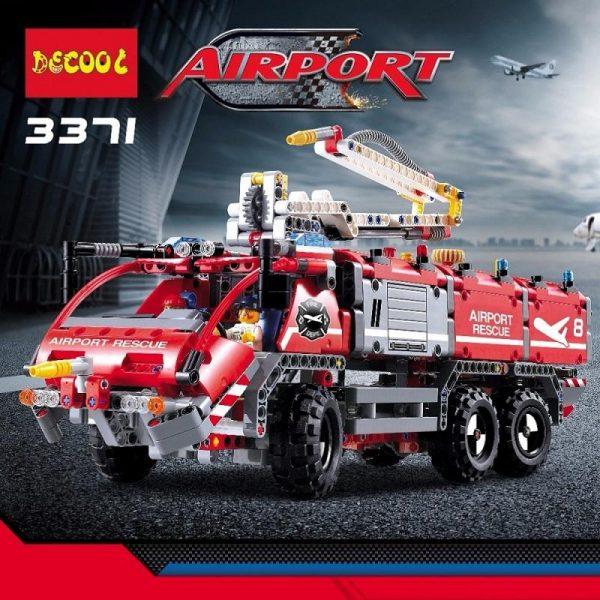 Decool 3371 1110pcs Airport rescue vehicle model 2 Legoings 3D DIY Figures toys for children educational - DECOOL