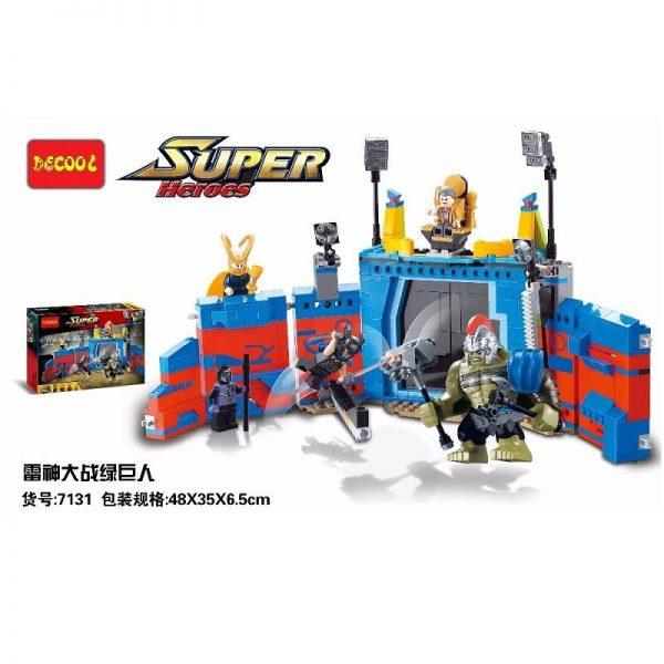 Decool 498Pcs Marvel thanos VS Hulk Ragnarok Action Figure Gift Toys Avengers Fit for Lego 76088 - DECOOL