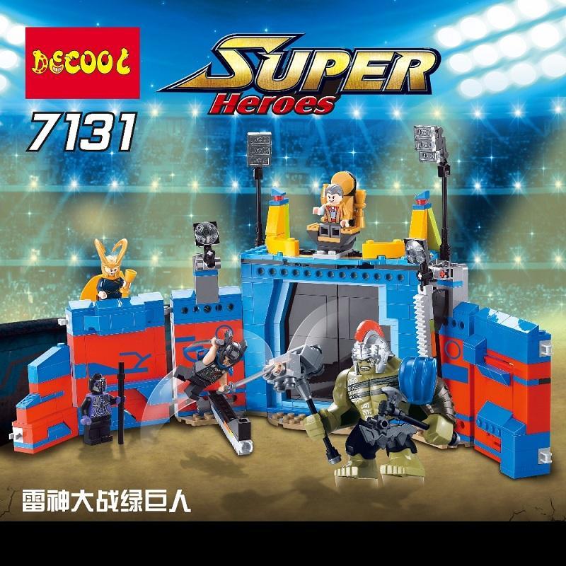 Decool 498Pcs Marvel thanos VS Hulk Ragnarok Action Figure Gift Toys Avengers Fit for Lego 76088 1 - DECOOL