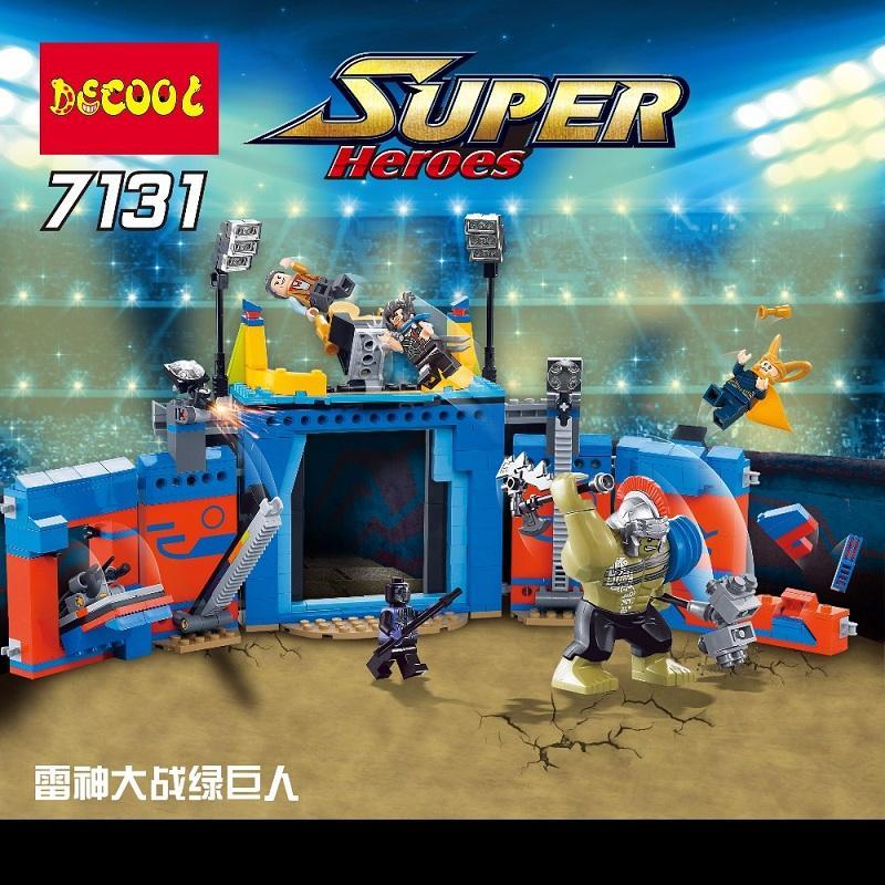 Decool 498Pcs Marvel thanos VS Hulk Ragnarok Action Figure Gift Toys Avengers Fit for Lego 76088 2 - DECOOL
