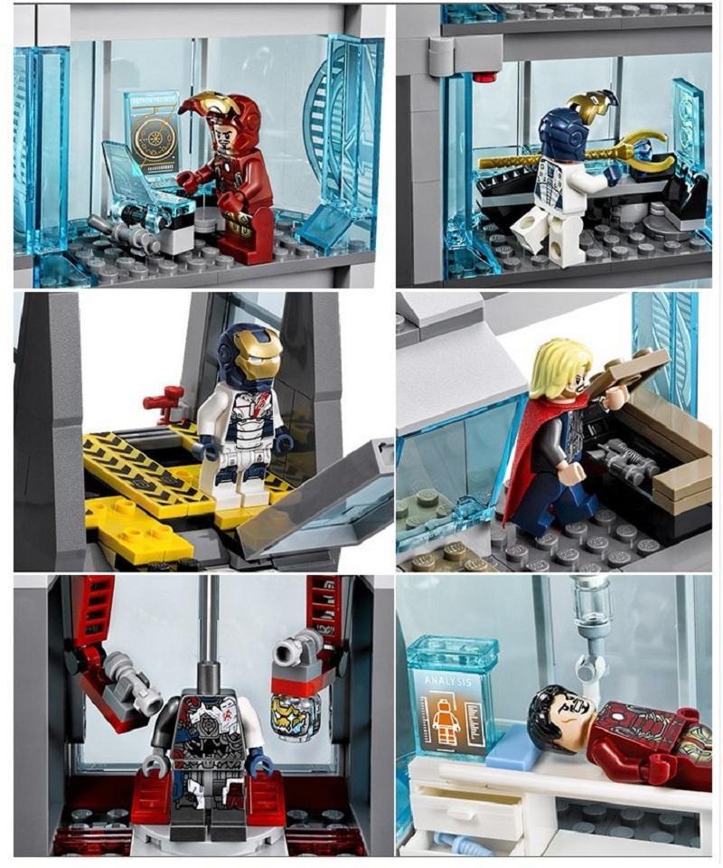 Decool 511pcs Marvel Superheroes Iron Man Base Attack Avengers Tower buster Building Blocks Bricks Toys for 1 - DECOOL