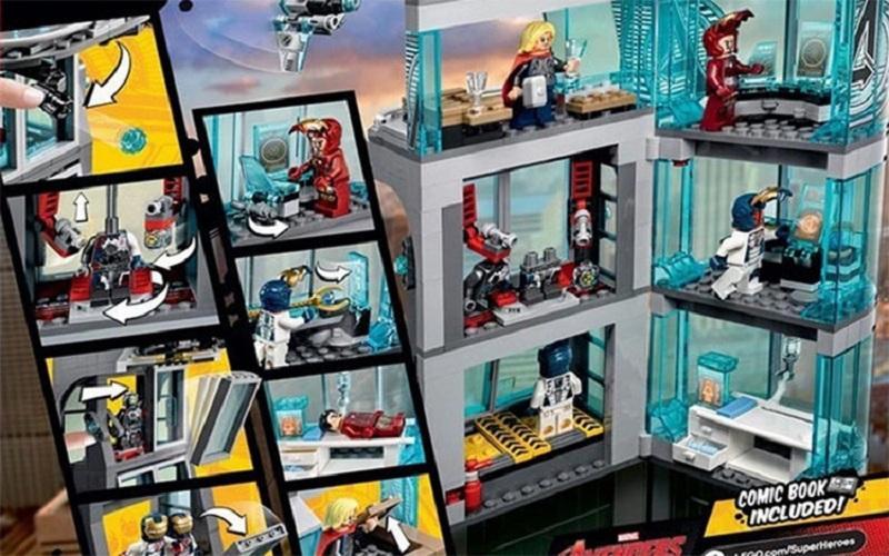 Decool 511pcs Marvel Superheroes Iron Man Base Attack Avengers Tower buster Building Blocks Bricks Toys for 2 - DECOOL