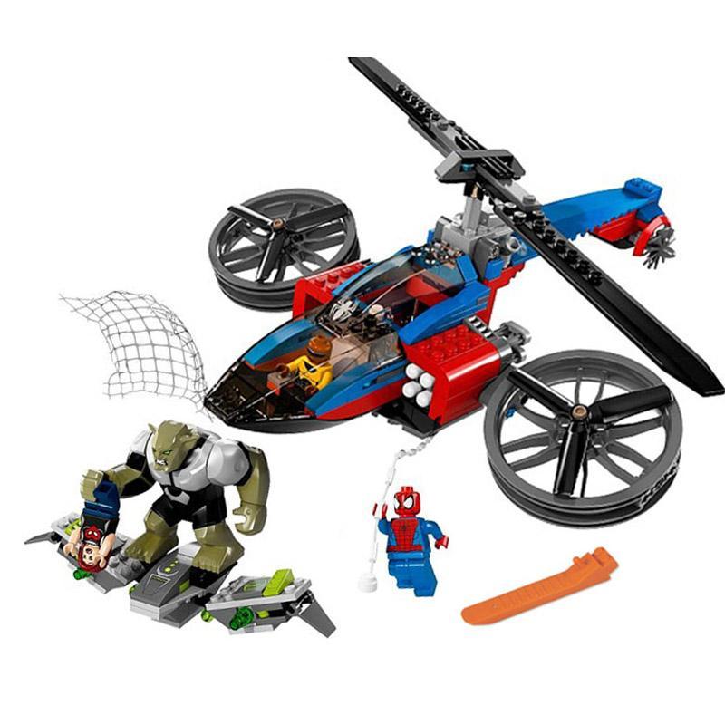 Decool 7106 299pcs Super Heros Series Helicopter Model Building Block set Bricks Toys For children Boy - DECOOL