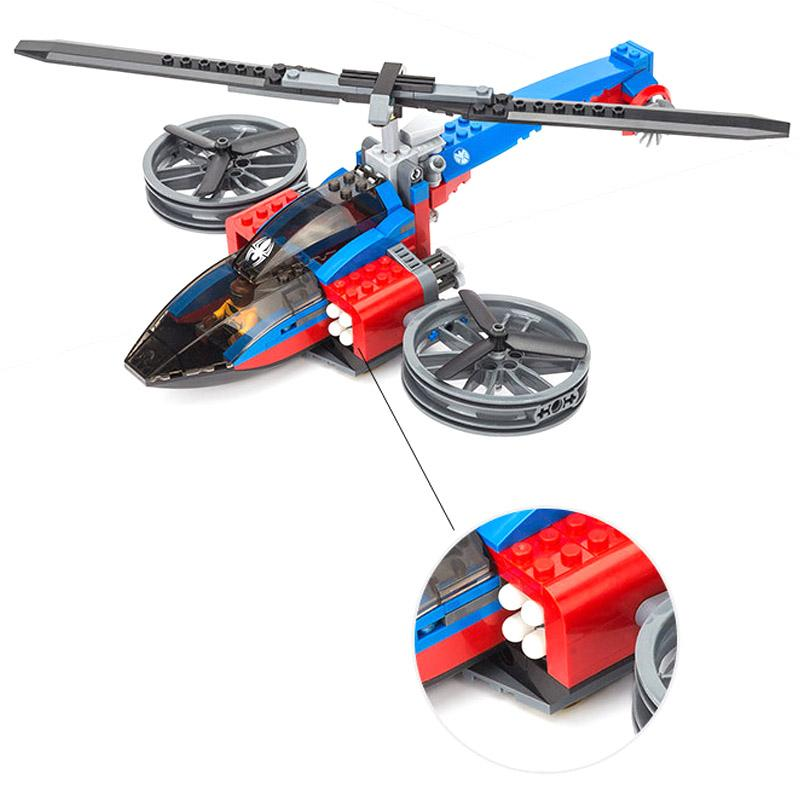 Decool 7106 299pcs Super Heros Series Helicopter Model Building Block set Bricks Toys For children Boy 1 - DECOOL