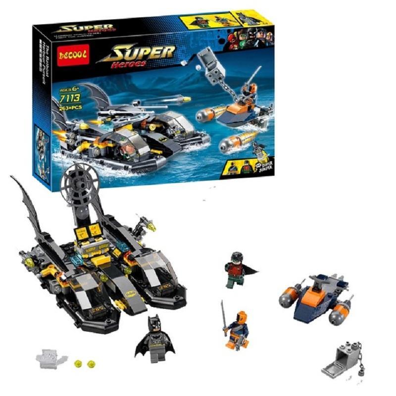 Decool 7113 7109 The Batboat Harbour Pursuit figureblock Deathstroke Green Arrow Batman Building Model Toy.jpg 640x640 332492f3 1a81 4c45 bfa9 76b8e165a224 - DECOOL