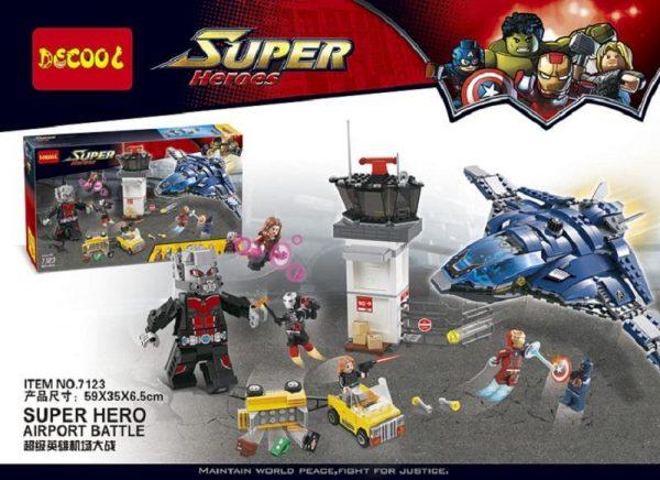 Decool 7123 Marvel s Captain America 3 Civil War Giant Ant Man airport for Avengers bricks - DECOOL