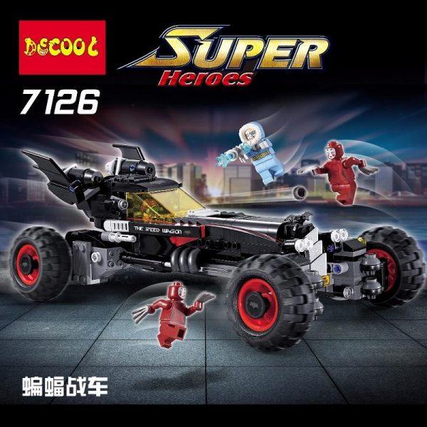 Decool 7126 587Pcs Genuine superheros Movie Set The Robbin Building Blocks Bricks Toys fit for lego - DECOOL