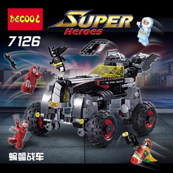 Decool 7126 587Pcs Genuine superheros Movie Set The Robbin Building Blocks Bricks Toys fit for lego 2 - DECOOL