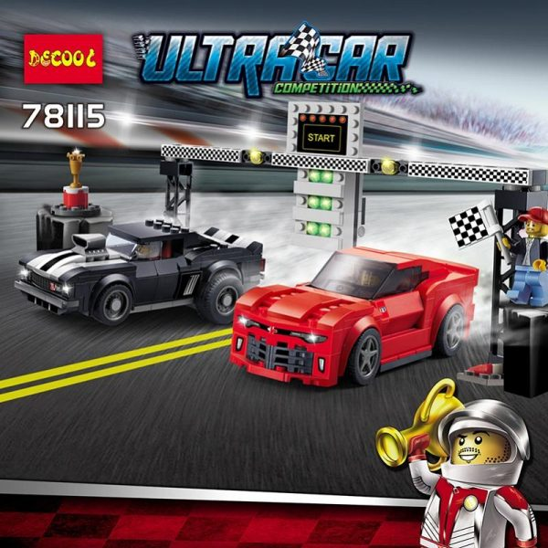 Decool 78115 454pcs Speed Champions building bricks Toys for children Compatible 75874 Game Model - DECOOL