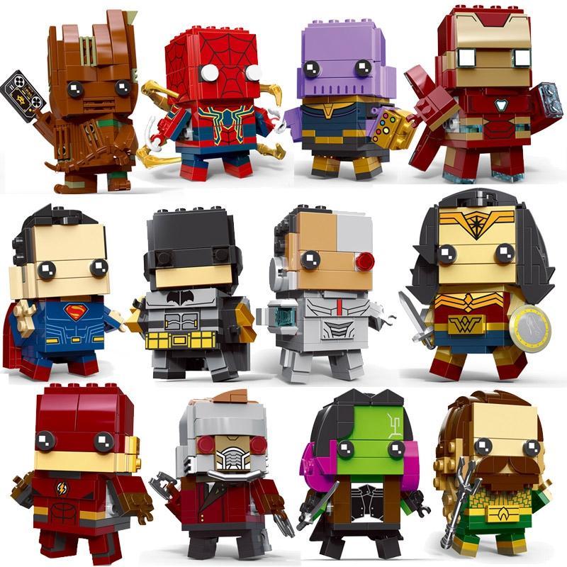 Decool Brickheadz SuperHeroes IronMan Marvel Super Heroes Superman Batman Figures Building Block Bricks legoING DC avengers - DECOOL