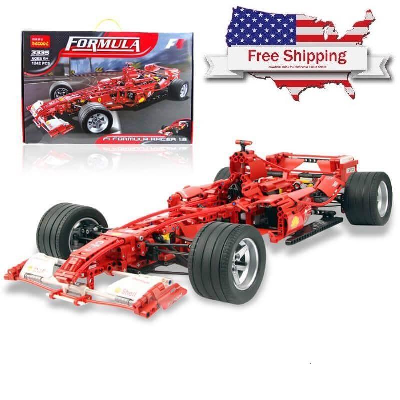 Decool Racing Car 1 8 Model 3335 1242pcs action figure toys DIY Bricks toys for Children - DECOOL