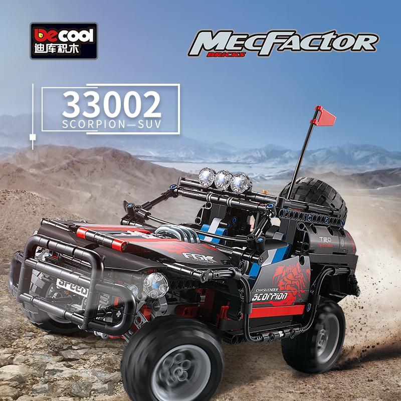 Decool Scorpion SUV jeep building bricks blocks New year Gift Toys for children Car Off Roader - DECOOL