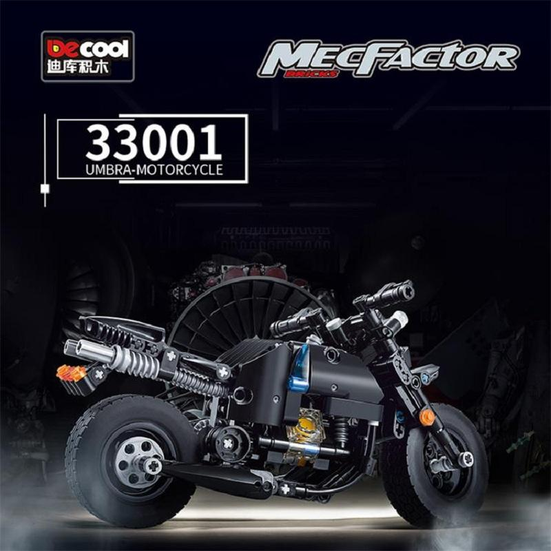 Decool Technic Motorcycle 265pcs Building Blocks set Eductional DIY Brick Toys Compatible MOC Technic 33001 - DECOOL