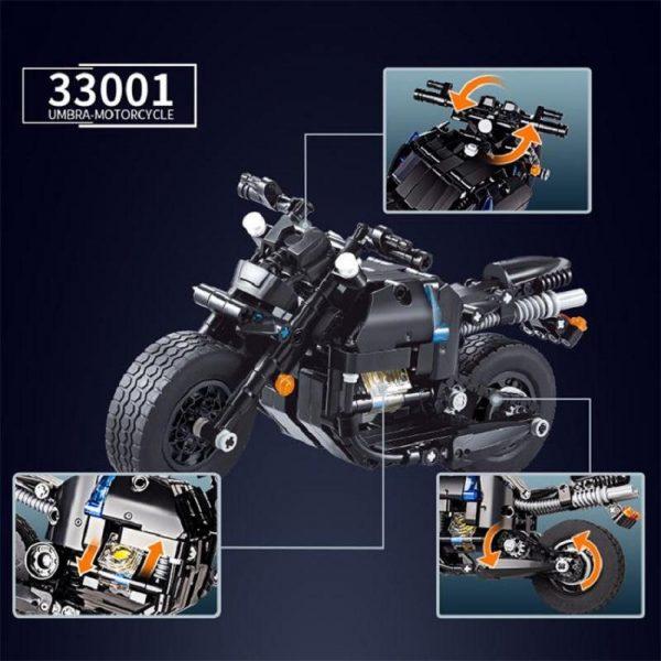Decool Technic Motorcycle 265pcs Building Blocks set Eductional DIY Brick Toys Compatible MOC Technic 33001 1 - DECOOL