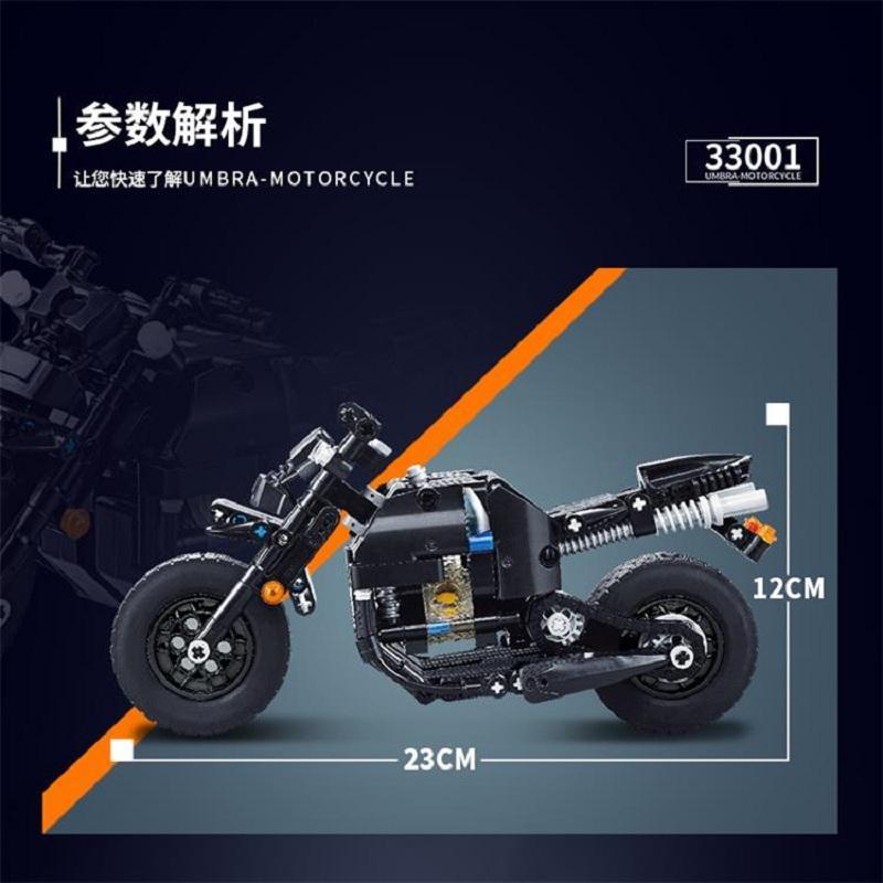 Decool Technic Motorcycle 265pcs Building Blocks set Eductional DIY Brick Toys Compatible MOC Technic 33001 2 - DECOOL